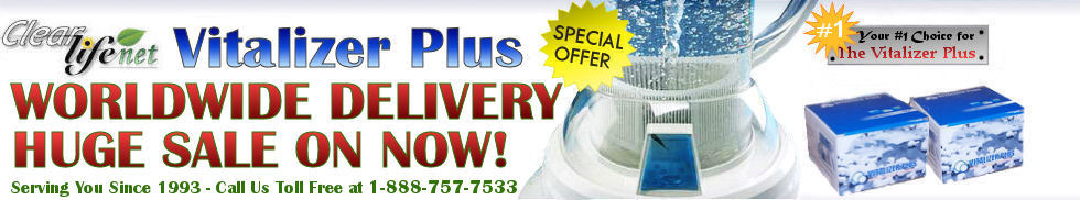 Vitalizer Plus Testimonials - Vitalizer Plus Water Huge Special Now!